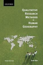 Qualitative Research Methods in Human Geography, Hay, Iain, Good Book