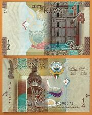 Kuwait Currency 2014 GEM UNC 1/4 Dinar Banknote Paper Money Bill P-NEW