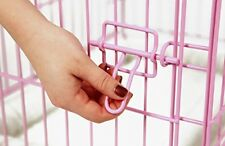 NEW Pink Secure and Compact Single Door Metal Dog Crate Small Durable Steel