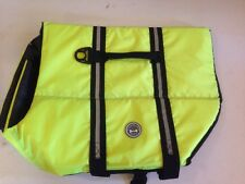 Dog Life Jacket Vest Extra Large Neon Green/yellow Chest And Stomach Support