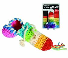 Rainbow Willy Warmer penis joke winter wear, secret Santa / Valentines Day gift