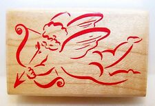 New 1993 HERO ARTS Wood Rubber Stamp D822 CUPID'S BOW Nice for VALENTINES DAY