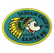 Mickey Mouse Indian Chief Santa Fe Patch Embroidered Disney Cartoon Iron Sew on