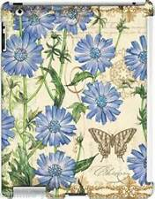 iPad 2, 3, 4 Inspirational Snap on Case BLUE CHICORY art by Tim Coffey NEW in