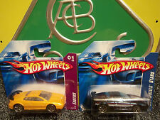 2 HotWheels Lotus Esprit Exotic Stars Blue Gold Mint Short Card Hot Wheels