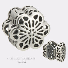 Authentic Pandora Sterling Silver Floral Daisy Lace Clip 791836