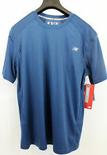 New Balance MFT1361 INS Men's Blue Polyester Short Sleeve Running T-Shirt Size M
