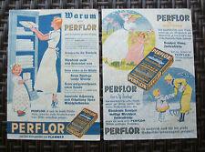 2 Plakate PERFLOR Waschmittel Waschpulver Bleiche von FLAMMER 20er 30er Jahre