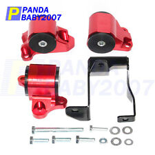 Motor Mounts Kit For Honda Civic 1996-2000 EK D16 B16 B18 B Series Engine red