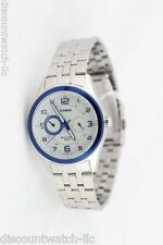 Casio MTP1353D-8B1 Mens Silver Stainless Steel Dress Watch White  Dial 50M Blue