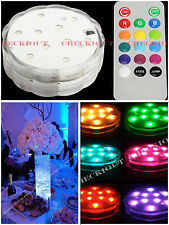 2 (10) LED Multi Color Waterproof Wedding Party Vase Base Light Floral Remote