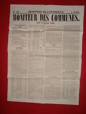 JOURNAL LE MONITEUR DES COMMUNES MINISTERE DE L'INTERIEUR 52 - 30 DECEMBRE 1858