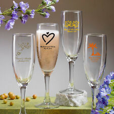 85 Personalized 5.75 Oz Champagne Flutes Wedding Party Event Favors For Guests