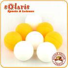 44mm Large Table Tennis Balls Training Ping Pong 4x White + 4x Orange