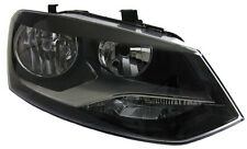 Black clear finish right side H7 headlight front light for VW Polo 6R from 09
