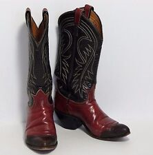 Tony Lama Dark Brown & Chestnut Brown Tip Western Boots Style V0263 Women's 6 US