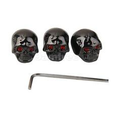 3 Electric Guitar Skull head Metal Volume Knobs Black