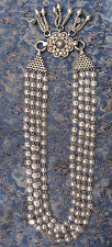 Antique Old used Nepali Tribal Sterling Silver Necklace, Nepal