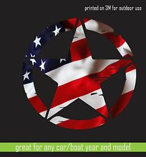 "3m Print vinyl sticker Flag Army Star Hood Car Window decal Camouflage 25"" cut"
