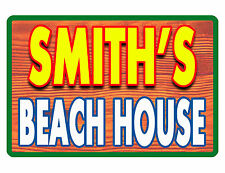 PERSONALIZED BEACH HOUSE SIGN DURABLE ALUMINUM NO RUST FULL COLOR CUSTOM SIGN.