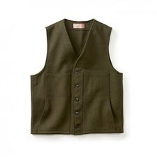 NEW Filson Forest Green Mackinaw 100% Wool Vest NWT Large USA $150