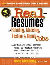 Real-Resumes for Retailing, Modeling, Fashion and Beauty Jobs by Anne...
