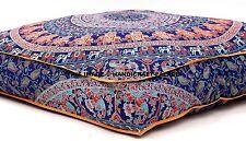 Elefanten-Mandala-Ottomane handgefertigte Boden Kissenbezug Puffs Indische Kunst