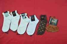 FIVE NEW JENNY BUCHANAN ANKLE SOCKS AND 1 PR JCPENNY RUST BROWN THIGH HIGH'S