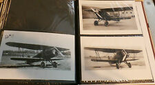 WWII U.S. ARMY BIPLANE AIRPLANES LOT OF 3 B&W 4X6 PHOTOGRAPHS SET #51a