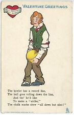 Raphael Tuck Valentine Greetings The Bowler Postcard