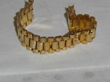 14K SOLID GOLD BAND FOR ROLEX & OTHER W/20 M.M. ENDS