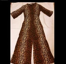 Vintage 60's ladies Dela-Ann Loungewear leopard wide leg one piece jumpsuit