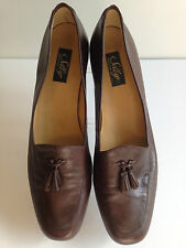 Women's Career Selby Brown Activeflex  Tassel Loafers Shoes 11AA  EUC