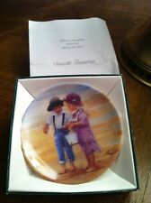 "Children Plate: Donald Zolan ""SEASIDE TREASURES"" -- 3 1/4"" Mini NIB Dealer"
