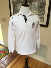 Official Fulham FC Football Club (Soccer) Men's M White Rugby Shirt 100% Cotton