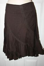 Ladies Brown Bay Cotton Skirt Size 8 Gyspy Summer Style