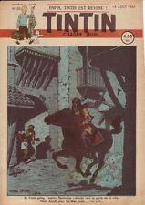 TINTIN 1947 n° 33 couv de Jacobs ,temple du soleil