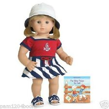 AMERICAN GIRL BITTY TWIN NAUTICAL SKIRT WITH BOOK NIB RETIRED DOLL NOT INCLUDED