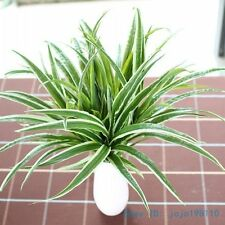 1PCS Artificial Fake Plastic Green Long Leaves Grass Plant Home Decoration F225