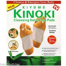 Kinoki Herbal Detox Foot Pads 10 Detoxification Cleansing Patches 10 New in Box