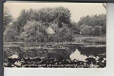 Real Photo Postcard Water Gardens on Ehmler Estate Hoosick Falls NY