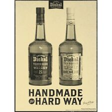 GEORGE DICKEL BOURBON AND RYE POSTER 18 by 26