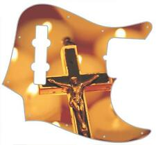 J Jazz Bass Pickguard Custom Fender Graphic Graphical Guitar Candle Lit Crucifix