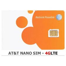 NEW AT&T Nano SIM Card  5 / 6 / 6/  s6 / S7, iPhone 4G LTE Prepaid Replacement