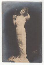 [60270] 1905 CUBAN REAL PHOTO POSTCARD BEAUTIFUL WOMAN (REUTLINGER, PARIS)