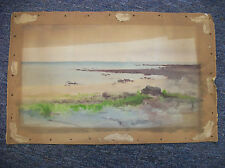 19th Century Original Watercolor, Lake Erie by Amos W Sangster (?)