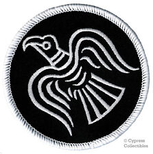 BLACK NORWAY VIKING ODIN'S RAVEN BANNER embroidered iron-on PATCH FLAG THOR new