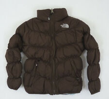 The North Face Girls Reversible Moondoggy Down Jacket Bacio Brown NWT $129  XS