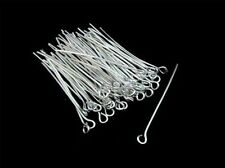 320 x 40mm Silver Plated Eye Pins Jewellery Craft Findings Beading A110