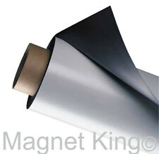 """Indoor/Outdoor Strong Matte White Magnetic Sheeting, 24"""" x 5' White Magnet Roll"""
